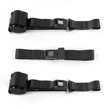 Camaro 1970 - 1981 Standard 2pt Black Retractable Bench Seat Belt Kit - 3 Belts