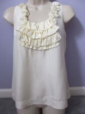 Banana Republic Petite 100 Silk Ivory Top PS Shell Blouse Shirt Brandnew