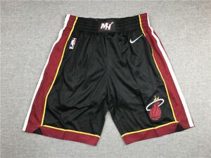 Hot sale Miami Heat Basketball shorts Regular Black Pants Size: S-XXL