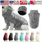 Small Dog Knitted Jacket Sweater Pet Puppy Coat Clothes Warm Costume Apparel Lot