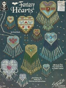 Suzanne McNeill Fantasy Hearts bead craft pattern book - 1993