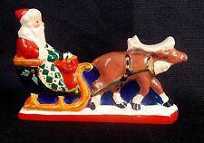 House of Hatten Santa Claus in Sleigh Reindeer Figurine 1994 Retired Rare