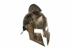 Iron Knight Helmet - Medieval - Antique Gold - Costume Accessory - Teen Adult