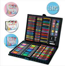 168x Art Set Kit For Kids Adults Supply Drawing Painting Professional Stationery