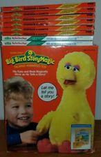 Vintage Sesame Street Talking Big Bird StoryMagic 1986 (8) Books/Tape Lot