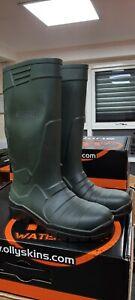 Polyurethane (PU) S5 Safety Toe Green Wellington, Size 6
