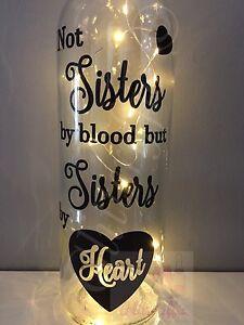 NOT SISTERS BY BLOOD BUT SISTERS BY HEART DIY WINE BOTTLE VINYL STICKER