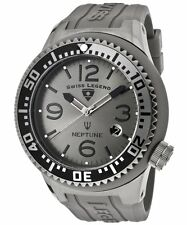 Swiss Legend Men's Watch Neptune Gunmetal Dial Grey Strap 52mm 21818P-GM-018