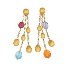 Marco Bicego Confetti Gemme Mix Gem Dangle Earrings 18k Yellow Gold