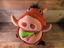 "PUMBAA Wart Hog w/ Bug Plush 11"" Stuffed Animal Toy Disney Lion King Pumba"