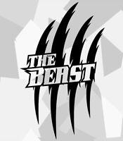 2x Monster Kralle Sticker Aufkleber Motorrad Auto JDM OEM Devil Tuning n