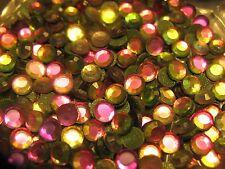 1,440 pieces Hotfix Iron-on 3mm Glass Rhinestones FUCHSIA PINK/GREEN 10 gr. 10SS