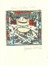 Artist Hannah Swain Greedy Christmas Fairy 10 Holiday Cards Two Bad Mice England