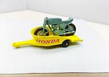 Matchbox Lesney Honda Motorcycle & Trailer - AWESOME - Vintage No.38