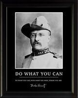 Theodore Roosevelt Do What You Can Poster Print Picture or Framed Wall Art
