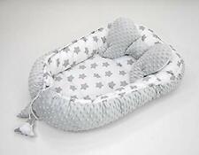 2 tlg.(SET) Kuschelnest Babynest Nestchen Reisebett  Baumwolle/Minky Lebkuchen