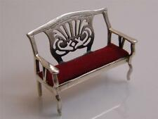 MINIATURE STERLING SILVER CHAIR FOR A DOLLS HOUSE