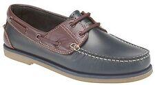 DEK M551cx Men's Navy Blue and Brown Nubuck Lace up Boat Style Deck Shoes UK 7