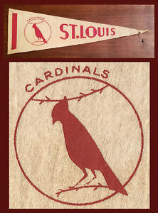 VINTAGE St Louis Cardinals Baseball Pennant! WOW!  HOW OLD?  DON'T KNOW!
