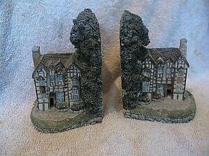 Vintage Lilliput Lane Style Bookends Pair of Vintage Cottage's