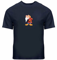Unisex Tee T-Shirt Gift Print Shirts Snow White and Seven Dwarfs Grumpy Disney
