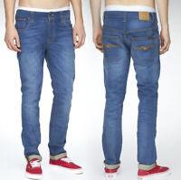 Nudie Herren Slim Fit Stretch Jeans   Thin Finn Organic Klein Used   W31 L32