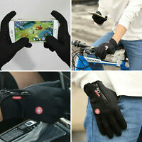 Winter Gloves Touch Screen Thermal Warm Zipper Cycling Skiing Waterproof Outdoor