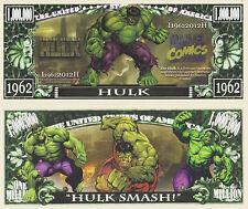RARE: Incredible Hulk $1,000,000 Novelty Note, Comics Buy 5 Get one FREE