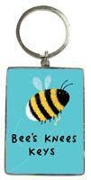Bee's  Knees Keys Metallic Keyring Lovely Birthday Christmas Gift Idea