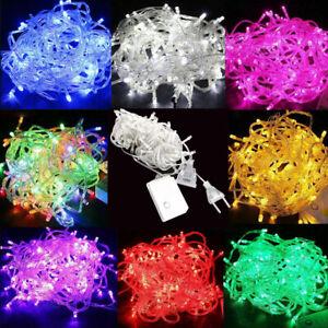 10M - 100M Waterproof LED Christmas Tree String Lights Party Garden Decor Lamp L