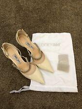 Jimmy Choo Ivory Wedding Shoe Bobbie 85 Patent Leather Size 41