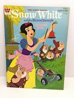Disney Snow White Coloring Book 1952 Uncolored Whitman Book