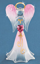 Glass Baron ~ Pink Angel with Pink Crystal ~ Great Gift ~  New in Box
