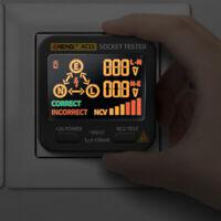 AC11 Socket Tester Digital Display Voltage Test Checker Detector US/EU/UK Plug