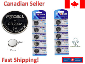 10 Pcs CR2032 Lithium Battery DL2032 2032 3V coin cell button batteries