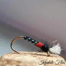 Lightweight Holo/ Red Buzzers size 16 (Set of 3) Fly Fishing Flies Trout
