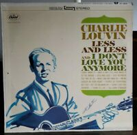 Charlie Louvin Less And Less And I Don't Love You Anymore ST 2208 Vinyl Lp (EX)