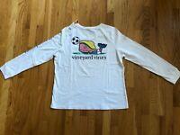 NWT Women's Vineyard Vines LS Soccer Whale Pocket T-Shirt Size XL Retail $48