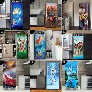 3D Fridge Door Self-Adhesive Decal Wall Sticker Refrigerator Wrap Decor Disney