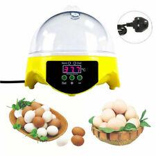 Digital Mini 7 Egg Incubator Poultry Bird Pet Hatcher Clear Temperature Control