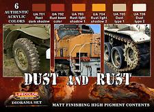 Lifecolor LC-CS10 Rust & Dust Acrylic Paint Set 22ml (Pk6) Assorted
