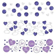 I Do & Ring Value Confetti- Lilac Wedding Decoration