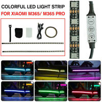 LED Strip Flashlight Lamp For Xiaomi M365 Electric Scooter Skateboard Safety q