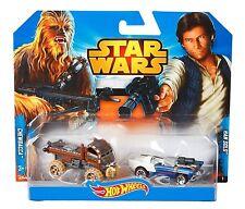 Star Wars Hotwheels --Han Solo & Chewie Cars 2 Pack -- Die Cast, 2014