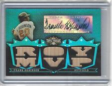 2007 Topps Triple Threads Relics Autographs Sapphire Frank Robinson 2/3 Orioles