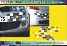 R26 RENAULT MEGANE SPORT F1 TEAM damiers Kit Complet  stickers Autocollant