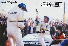 Jean Ragnotti foto firmada de mano 12x8 Renault Rally 10.