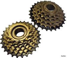 Cassettes y piñones para bicicletas con 6 velocidades