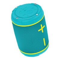Aqua Lily Pad Floating Waterproof Compact Bluetooth Speaker with Subwoofer, Teal