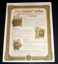 1919 OLD MAGAZINE PRINT AD, AEOLIAN VOCALION, THE WORLD'S GREATEST PHONOGRAPH!